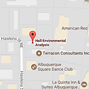 Map to Hall Environmental